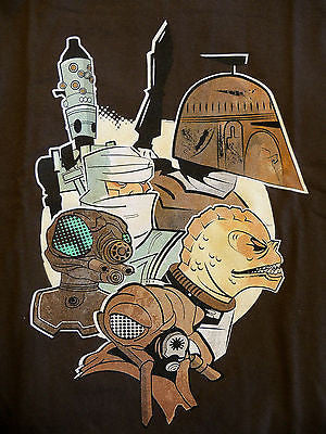 TeeFury T-Shirt - Star Wars Bounty Hunters - New - Adult L