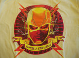 TeeFury T-Shirt - Flash Always a Step Ahead - New - Adult M