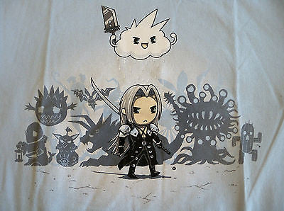 TeeFury T-Shirt - Final Fantasy - Bad Guy Blues - New Adult S - Lt Blue
