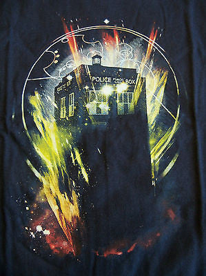 TeeFury T-Shirt - Dr Who Tardis - New Adult S - Navy