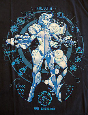 TeeFury T-Shirt - Megaman Metroid - Project M Class Bounty Hunter -  New Adult S