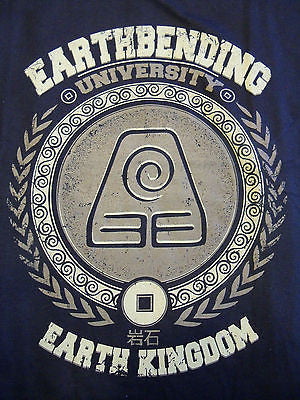 TeeFury T-Shirt -  Avatar Earthbending University Aang Korra - New Adult M