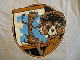 TeeFury T-Shirt - Groot Rocket Racoon Painter Bob Ross