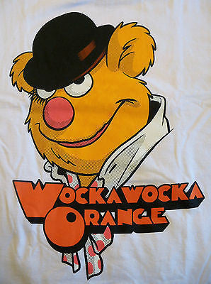 TeeFury T-Shirt - WockaWocka Orange - Fozzie Bear Clockwork Orange