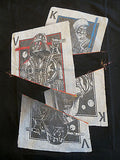 TeeFury T-Shirt - Star Wars - Darth Vader Obi-Wan Kenobi Playing Cards - New S