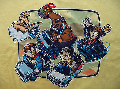 TeeFury T-Shirt - Super 80's Cart - Mr T Alf Ghost Busters Knight Ryder - New XL