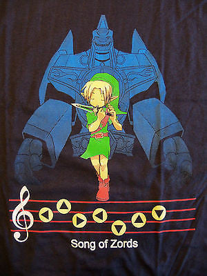 RIPT T-Shirt - Legend Of Zelda - Song Of Zords - Adult XL