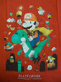 TeeFury T-Shirt - Mario Platformer Video Game - Adult L