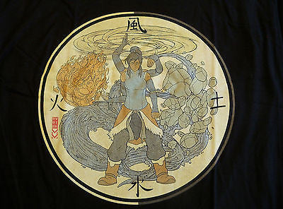 TeeFury T-Shirt - Avatar Korra - New - Adult M
