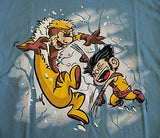 TeeFury T-Shirt - X-Men Wolverine - Logan Victor Calvin & Hobbes - New Adult S