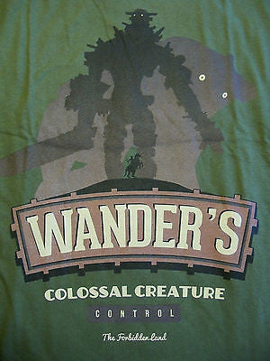 TeeFury T-Shirt - Wander Colossal Creature Control - New Adult L