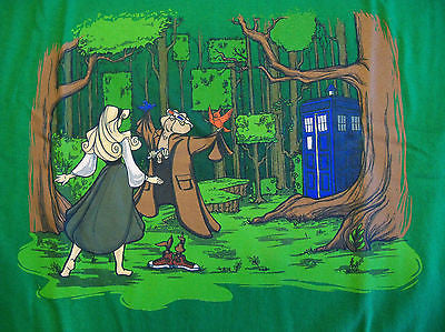 TeeFury T-Shirt -  Cinderella Dr Who - New Adult L