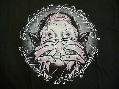 TeeFury T-Shirt - LOTR Hobbit Gollum Ring Precious - New - Adult L