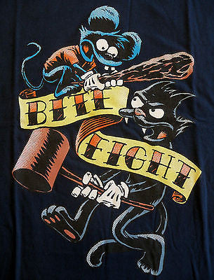 TeeFury T-Shirt - Simpsons - Itchy & Scratchy - New Adult S