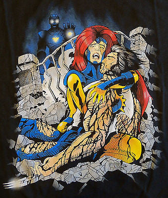 RIPT T-Shirt - Marvel X-Men Wolverine Death Of Logan - Adult L