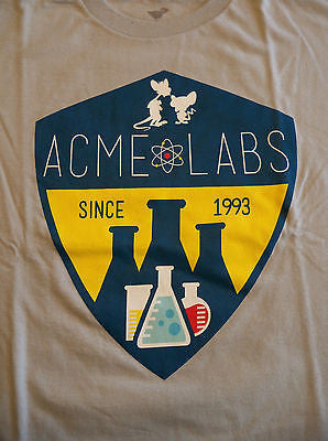 TeeFury - T-Shirt - Pinky & the Brain Acme Labs - New - Adult M