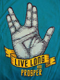 TeeFury T-Shirt - Live Long And Prosper - Star Trek Spock Leonard - New Adult XL