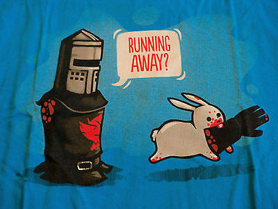 TeeFury T-Shirt - Running Away Monty Python Holy Grail - New - Adult M