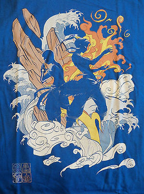 TeeFury T-Shirt - The Two Avatar - Legend Of Korra - Aang & Korra - New Adult L