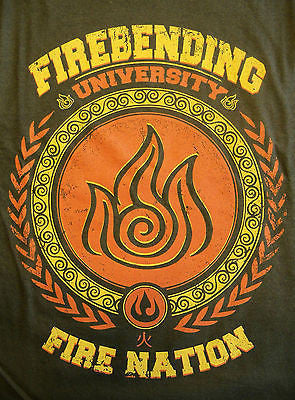 TeeFury T-Shirt - Avatar - Firebending University - Fire Nation - New Adult XL