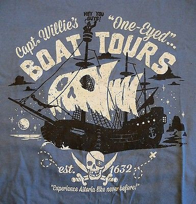 RIPT T-Shirt - Captain Willies One Eyed Boat Tours - Adult S