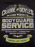 TeeFury T-Shirt - Harry Potter - Crabbe & Goyle's Snitches Get Stitches - New S