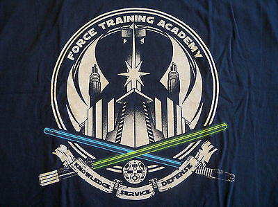TeeFury T-Shirt - Star Wars Force Training Academy Jedi - Adult XL
