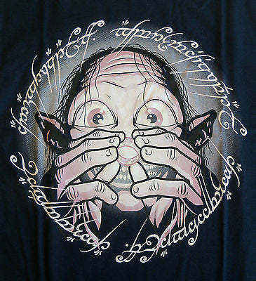 TeeFury T-Shirt - LOTR Hobbit Gollum Ring Precious - New - Adult S