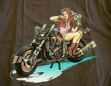TeeFury T-Shirt - Pin-Up Final Fantasy VII - Motorcycle - New - Adult L