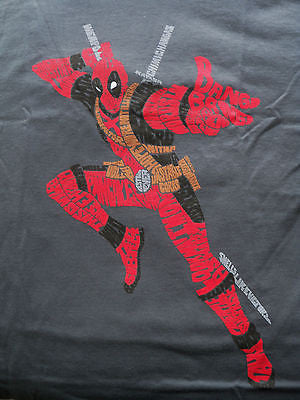 TeeFury T-Shirt - Deadpool - I Look Great In Words - Marvel - New - Adult L