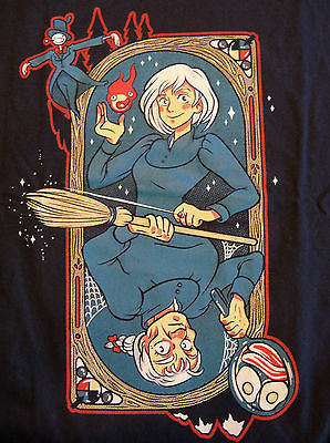 TeeFury T-Shirt - Howl's Moving Castle Queen of Hearts On Fire - Adult XL