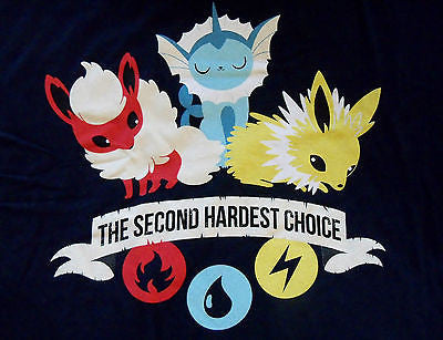 TeeFury T-Shirt - Pokemon Second Hardest Choice - New - Adult XL