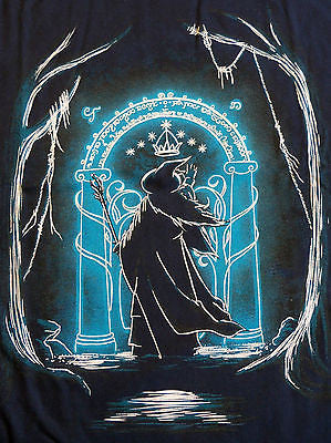 TeeFury T-Shirt - Hobbit Doorway Riddle LOTR - New - Adult XL