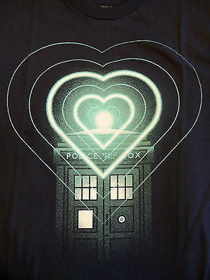 TeeFury T-Shirt - Dr Who Hearts Tardis - New Adult S
