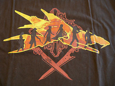 TeeFury T-Shirt - The Two Swords - Final Fantasy Lord of the Rings - New Adult S