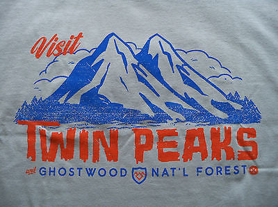 TeeFury T-Shirt -  Visit Twin Peaks - Ghostwood - New Adult S