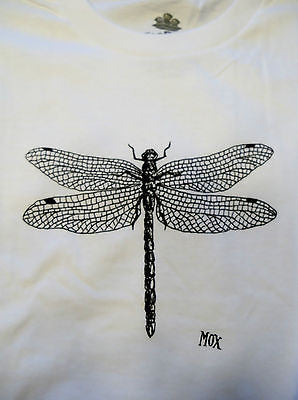 TeeFury T-Shirt - Inklings Collection - Dragonfly - White