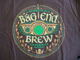 TeeFury T-Shirt - Bag End Brew - LOTR Hobbit - New Adult L - Brown