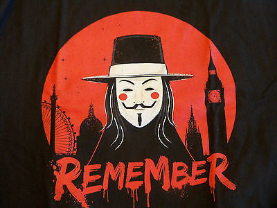 TeeFury T-Shirt - V For Vendetta Remember
