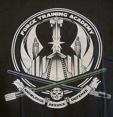 TeeFury T-Shirt - Star Wars Force Training Academy Jedi - Adult S