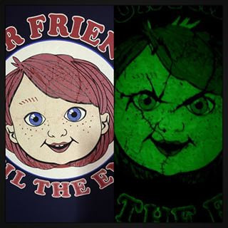 Teevillain Glow In The Dark T Shirt Til The End Adult Star