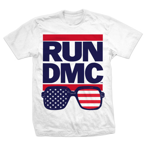 RUN DMC RUN USA Shades Tee WHITE