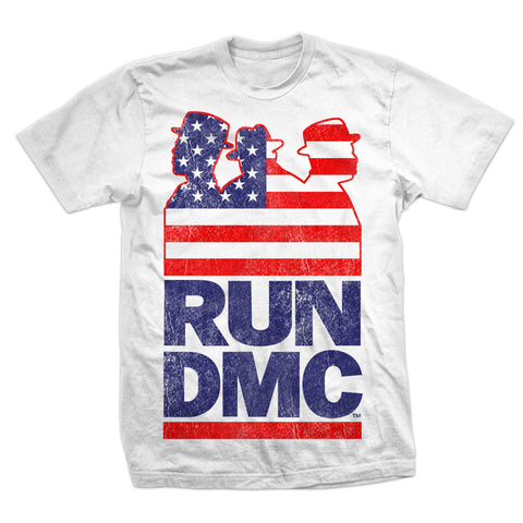 RUN DMC CLASSIC FLAG AMERICAN T-SHIRT