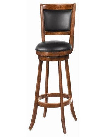 (101920) BROWN WITH BLACK UPHOLSTERY BARSTOOL