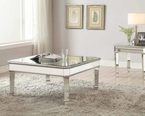 Coaster Contemporary Mirrored Coffee Table Instock Furniture