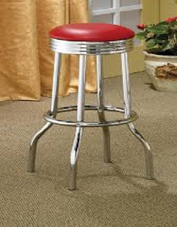 (2299r) RED BAR STOOL