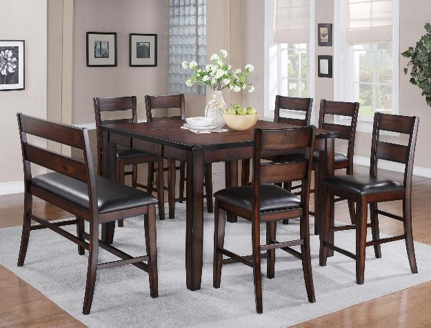 CRO 2760 Maldives 8 Piece Counter Height Set in Brown