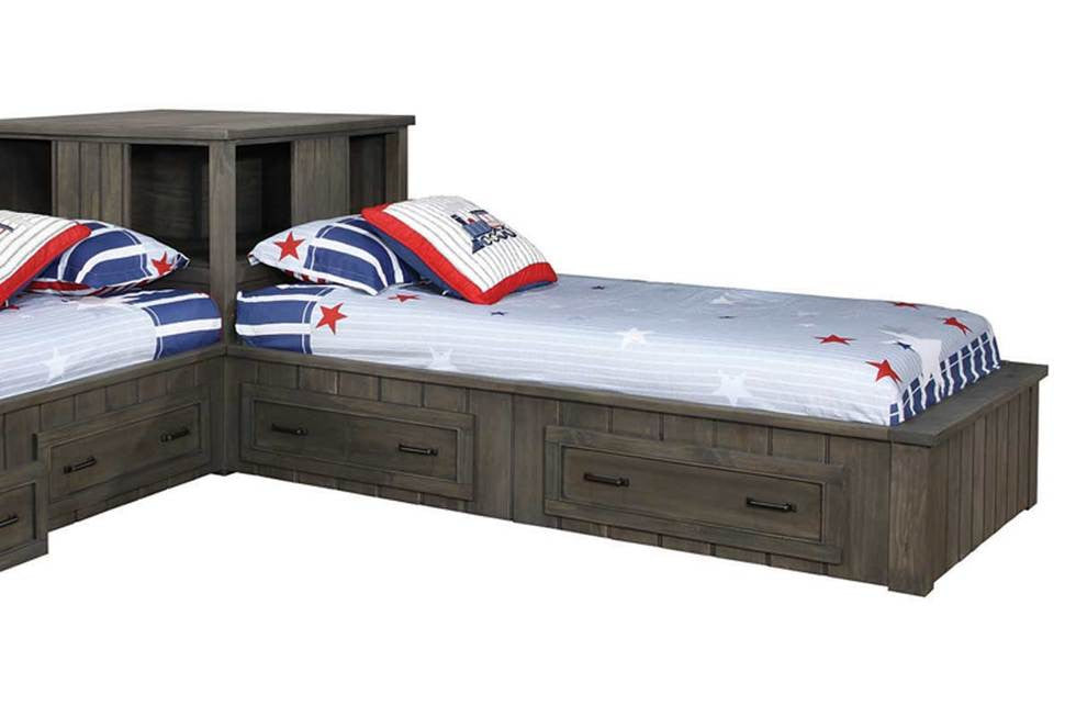 Twin/Twin Corner Shelf Bed #400937 COA