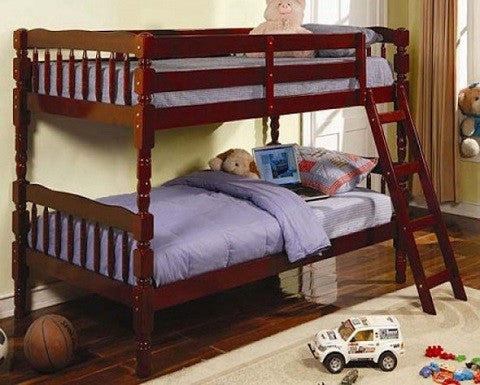 COASTER 5040 CHERRY BUNK BED