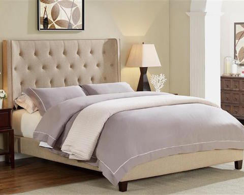 Wingback Upholstered Bed #5262 CR